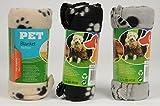 3er Pack Haustierdecke 70x70cm Haustier Decken 3 farbig sortiert für Hunde und Katzen Fleecedecke...