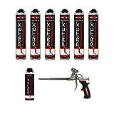 XL Set 6 x 750ml Pistolenschaum + 1 Reiniger + 1 Schaumpistole Montageschaum Bauschaum