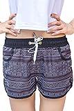 Yieks Badeshorts Damen Sommer Urlaub Strand-Shorts Kleine Kokospalme XL