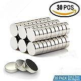 30 Stück Neodym Magnete, klein, rund & extra stark, Mini-Magnete(6 mm x 3 mm) für Fotos,...