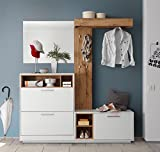 lifestyle4living Kompaktgarderobe, Garderobe, Set, Garderobenpaneel, Flurgarderobe,...