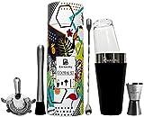 Cocktail Shaker Set von Banamu I Boston Shaker mit Kälteschutz, Stößel, Messbecher, Sieb, Löffel...