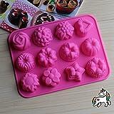 Hanseatic Consumables 12er Mini Muffin Backform 25x17x2cm Antihaftbeschichtet 100% BPA freies...