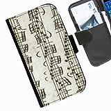 Hairyworm- Musik Seiten Leder-Schützhülle für das Handy Nokia Lumia 735