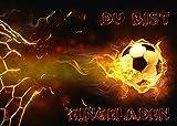 12-er Set Fussball-Einladungskarten (Nr. 10717) zum Kindergeburtstag oder zur Fußball-Party von...