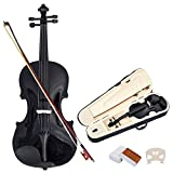 4/4 Geige Geigen Violine Violinen für Anfänger inkl. Bogen, Koffer und Kolophonium aus Holz in 2...