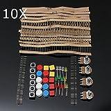 LaDicha 10 Stücke Elektronische Teile Komponente Widerstände Schalter Taste Kit Für Arduino