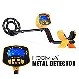 HOOMYA™ Hochempfindlicher Metalldetektor - 8.2 Zoll Wasserdichter Suchkopf, LCD Anzeige Objekten...