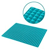 Silikon-Backmatte mit Auffang-Rand und runden Noppen | Dauer-Backunterlage für Backblech |...