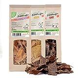 4yourpet 1000 Dörrfleisch, Hundesnack, Katzensnack, Trockenfleisch 3er Snack-Pack aus 100%...