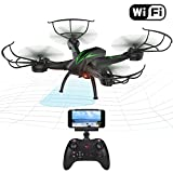 Beebeerun WiFi FPV RC Quadcopter Drohne mit Kamera Live Video 2,4 GHz 6-gyro Headless Modus Altitude...