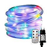 MaLivent 10M 136er LED Lichtschlauch als Weihnachtsdeko–Lichterschlauch Bunt...