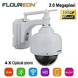 FLOUREON 1080P Dome IP Kamera Wlan Überwachungskamera PTZ Netzwerkkamera, Outdoor IP Cam, ONVIF 4x...