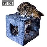 Katzenhöhle fürs Regal von PetPäl | Design Kuschelhöhle für den Schrank Inklusive Kissen | Für...