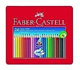 Faber-Castell 112423 Farbstift Colour Grip Blechetui 24er