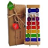 Hölzernes Xylophon für Kinder, Perfekt Glockenspiel Holz Geschenke für Babys – Magische Klänge...