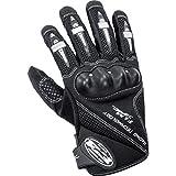 FLM Motorradschutzhandschuhe, Motorradhandschuhe kurz Sports Leder/Textilhandschuh 1.0 schwarz XXL,...