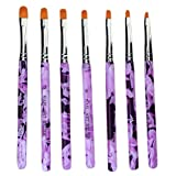 Haobase Pinselset 7-teilig für Nailart, UV-Gel, Acryl, Onestroke