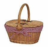 Kindes gefüttert Oval Picknick-Korb mit Deckel