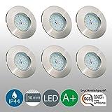 LED Badeinbaustrahler ultra flach inkl. 6 x 5W LED Modul 230V IP44 Badezimmer geeignet LED...