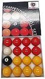 Billard Pro Unisex 5,1cm League Pool Kugeln (rot und Gelbtöne, rot/gelb
