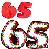 Backformen-Set Zahl 6 und 5 für 65. Geburtstag / Hochzeitstag, Silikonbackformen