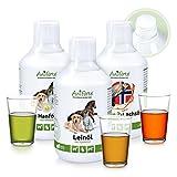 AniForte Barf-Öl Set 3 mit je 500ml Lachsöl, Leinöl und Hanföl – Naturprodukt für Hunde und...