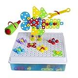 Mosaik Steckspiele 3D 4 in 1 Kreatives Puzzlespiel DIY Bausteine Versammlung Intelligenz Spielzeug...
