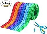 Bausteine Klebeband für Lego, 6 Rollen(1m/Rollen) Multicolor Silikon lego klebeband mit...