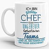 Tasse mit Spruch 'Chef' - Kaffeetasse / Mug / Cup - Qualität Made in Germany