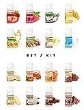 ALPHAPOWER FOOD® - ALPHAPURE® SERIES: 5er SET: Vegan Aroma 1400%* Flavouring System, Flavour Drops...