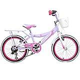 18 Zoll Hi5Chic Kinderfahrrad für Kinder ab 2,5 Jahren Fahrrad Stützräder, Farbe:Weiß / Purple