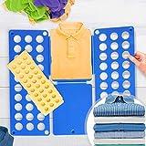 Jago XXL Wäsche Faltbrett 2er Set | in Blau (B/H: 70x59cm) und Gelb (B/H: 50x40cm) | Wäschefalter,...