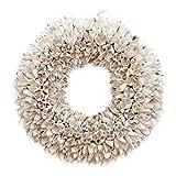 Naturkranz Deko-Kranz groß Ø 25cm in weiß, gefertigt aus Bakuli-Früchten. Türkranz zum hängen...