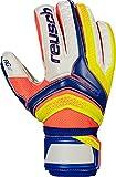 Reusch Herren Serathor RG Finger Support Torwarthandschuhe, Dazzling Blue/Safety Yello, 8.5
