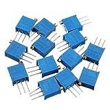 LaDicha 100R-1M 13 Stücke 13 Werte 3296 Potentiometer Pack Einstellbare Widerstand Packung...
