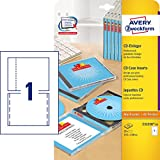 Avery Zweckform, C32250-25, 25 Blatt, CD-Einleger spezialbeschichtet, mikroperforiert, Inkjet,...