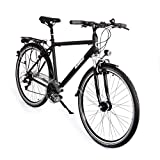 Gregster Herren Aluminium City-Bike Fahrrad StVZO, Schwarz, 28 Zoll, GR-6664