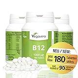 Vitamin B12 1.000 µg, B6 + Folsäure   180 Tabletten   Sinnvolle B-Vitamin Kombination  ...