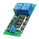 LaDicha Dc 12 V 2Ch Verzögerung Relais Zyklus Timer Switch Modul 1-9999 S Für Motor Led Smart Home
