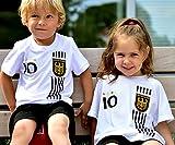 ElevenSports Deutschland Trikot + Hose mit GRATIS Wunschname + Nummer + Wappen Typ #D 2017 im EM/WM...