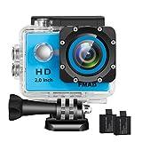 FMAIS Action Kamera 2,0 Zoll LCD Full HD 1080P Camcorder Unterwasser 30 mt / 98 ft Wasserdichte...