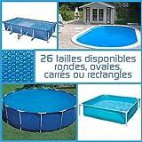 Linxor ® Pool Solarfolie Solarabdeckplane Poolheizung, rund, oval, quadrat oder rechteck, 180 ?m,...