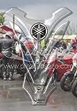 3d Tankpad Transparent Kunstharz Kompatibel für Reservoir Motorrad Yamaha