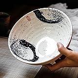 Kreative Keramik Obstsalat Schüssel Retro Geschirr Ramen Tiefe Suppe Große Schüssel