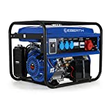 EBERTH 5500 Watt Benzin Stromerzeuger (E-Start, 13 PS Benzinmotor, 4-Takt, luftgekühlt,...