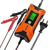 POTEK 2A/4A Batterie Ladegerät 6V/12v, Batterieladegerät Erhaltungsladegerät 7 Schritt...