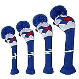 Scott Edward Blau Rot Weiß Argyles Golf Club Head Covers, drehbar Nummer Tags, Acryl Garn...