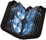 Hama CD Tasche (geeignet für 80 CDs/DVDs/Blu-rays, Mappe zur Aufbewahrung) schwarz