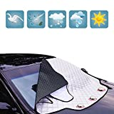 Windschutzscheibe Abdeckung Auto Windschutzscheibe für Winter Schneeräumung Sonnenschirm Eisfolie...